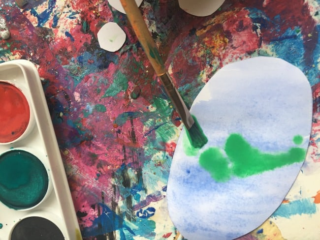 toddler watercolor activity