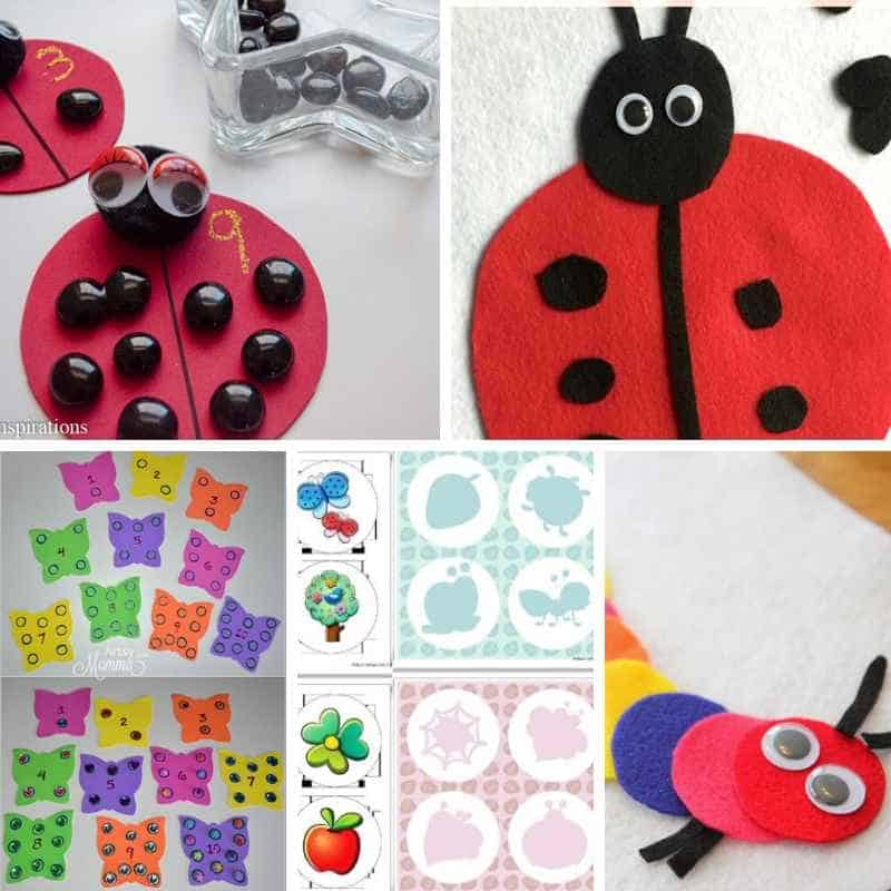 bug themed busy bags for toddlers and preschoolers