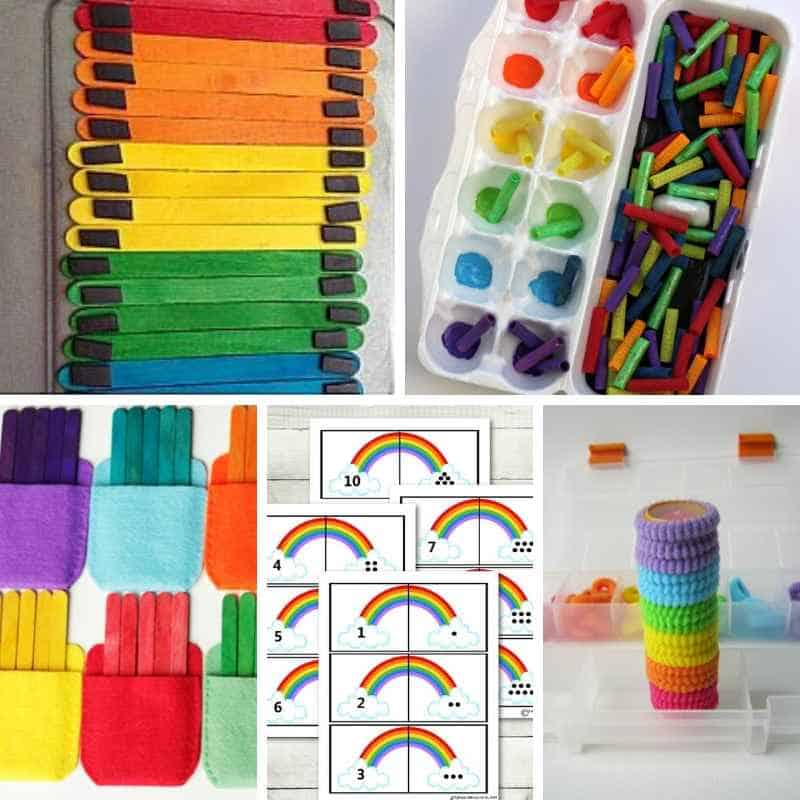 rainbow quiet time activities for toddlers and preschoolers