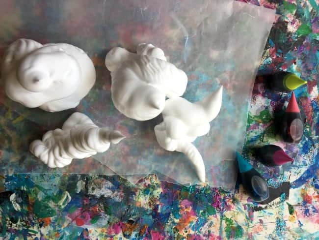 shaving cream painting preparation