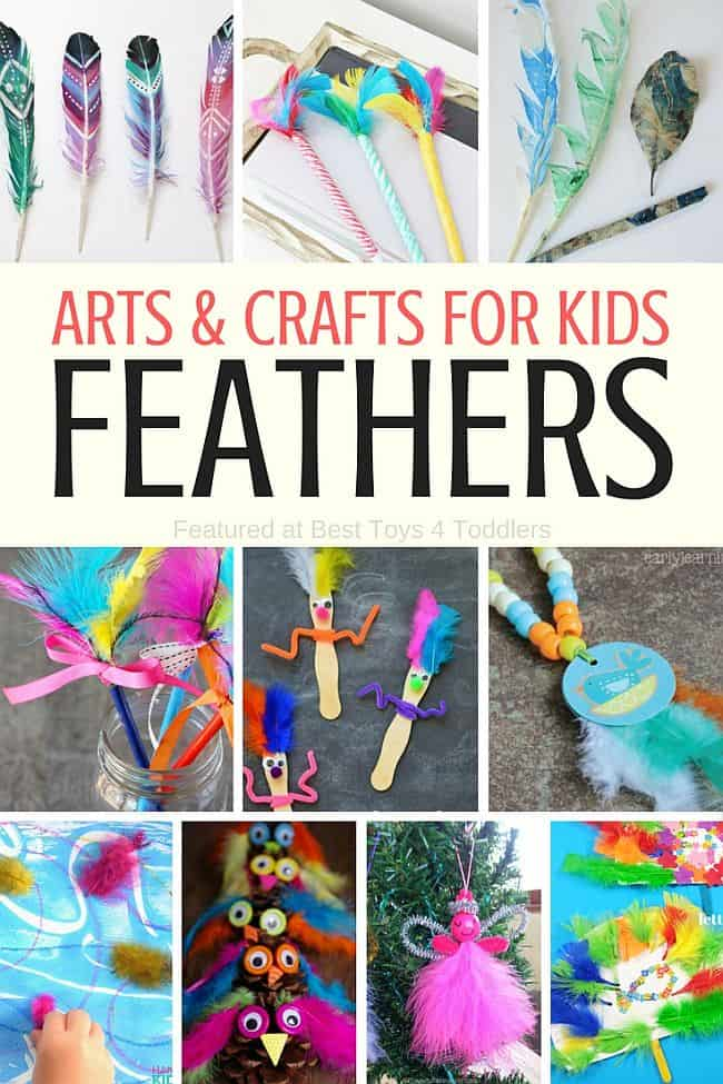 Best Toys 4 Toddlers - More than 35 art and craft ideas for kids with feathers