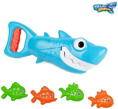 favorite bath time toys for 3 year olds - INvench Shark Grabber Baby Bath Toys