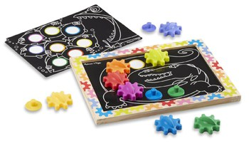 Top 10 STEM Toys For 2 Year Olds: Magnetic Gear Board