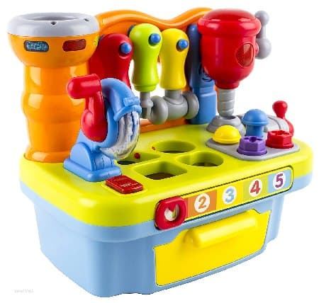 Best STEM toys for toddlers - Musical Learning Workbench Toy