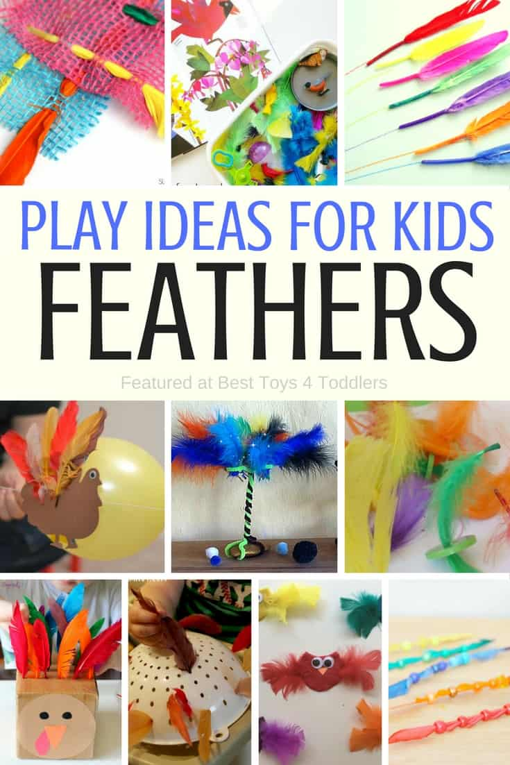 Best Toys 4 Toddlers - Play Ideas with Feathers for Kids, including fine motor practice, sensory play and more