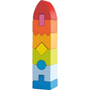 Top 10 STEM Toys For 1 Year Olds: Rainbow Rocket Wooden Stacking Play Set