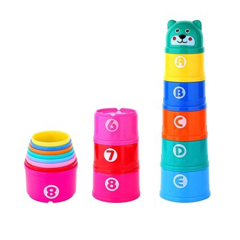 Top 10 STEM Toys For 1 Year Olds: Stacking Cups With Numbers and Letters
