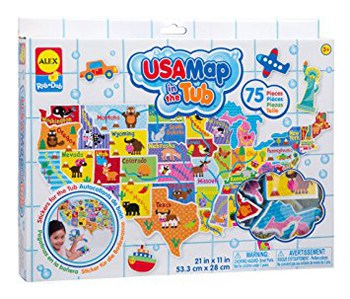 Top 10 Bath Toys For 3 Year Olds: USA Map In The Tub