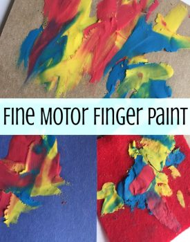 Fine Motor Clay Finger Painting