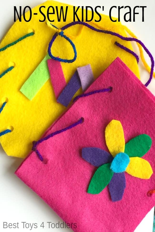 Preschool No-Sew Mother's Day Gift