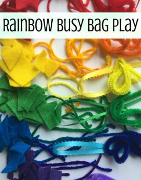 Rainbow Busy Bag Fine Motor Play