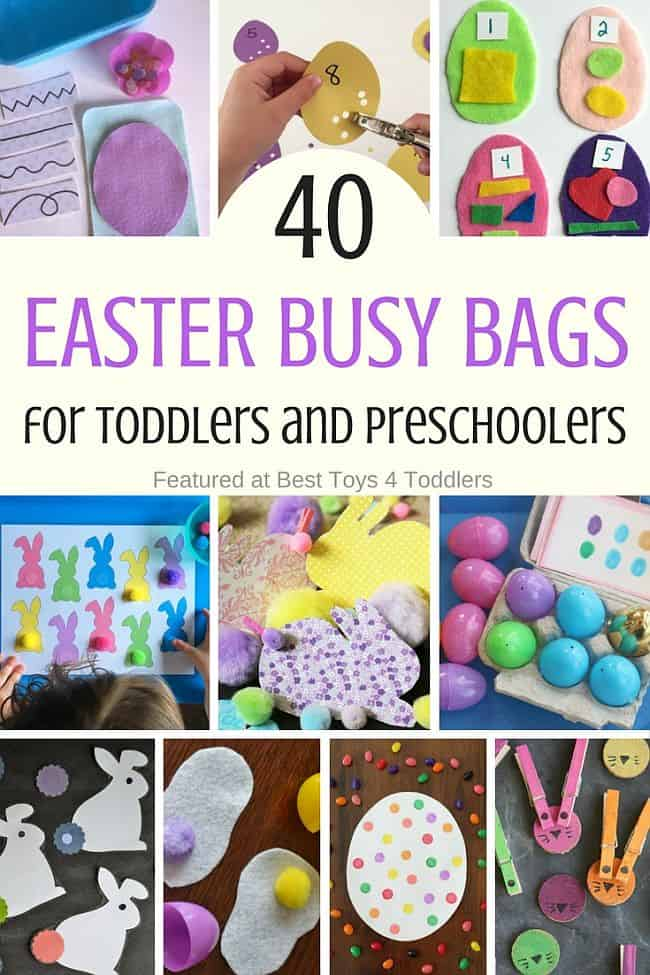 Best Toys 4 Toddlers - 40 Easter busy bags for toddlers and preschoolers to enjoy in their quiet time as an independent activities