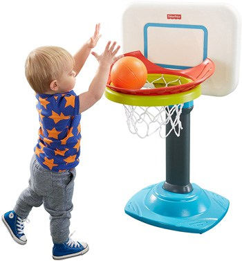 Top 10 Outdoor Toys For 1 Year Olds: Fisher Price Go to Pro Basketball Hoop