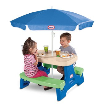 Top 10 Outdoor Toys For 2 Year Olds: Little Tikes Easy Store Junior Picnic Table