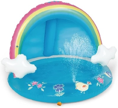 Rainbow Splash Pool with Canopy