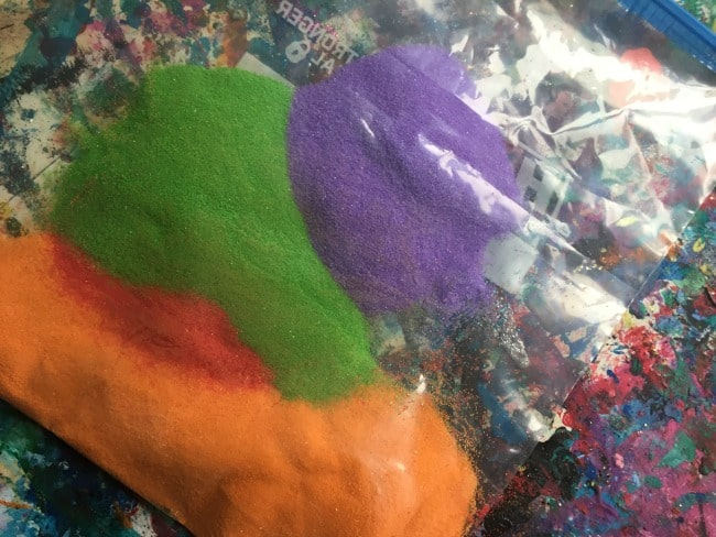Craft sand for ocean sensory play