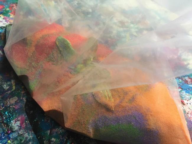 summer sensory bag for toddlers
