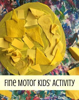 Fine Motor Sunshine Collage
