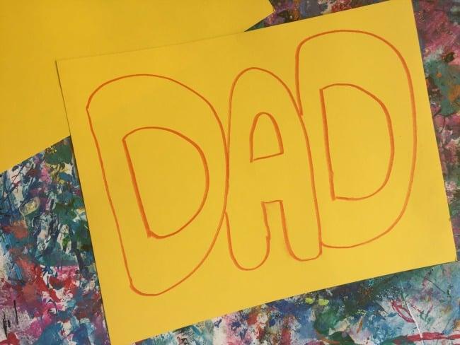 low-prep father's day preschool craft