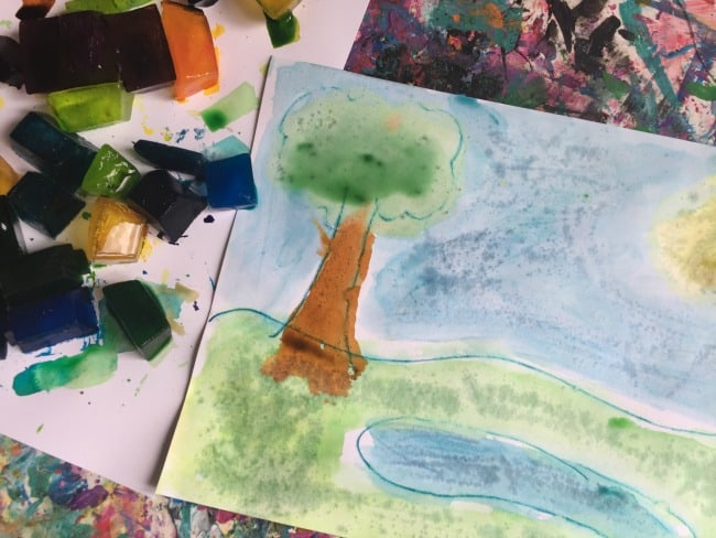watercolor ice paint