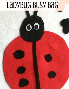 Ladybug Busy Bag Activity