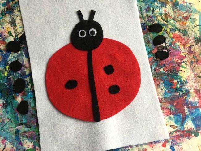 easy toddler ladybug craft
