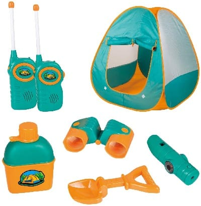 Best backyard toys for 3 year old boys and girls - ToyVelt Kids Camping Tent Set Toys