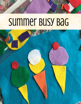 Shape Busy Bag Activity