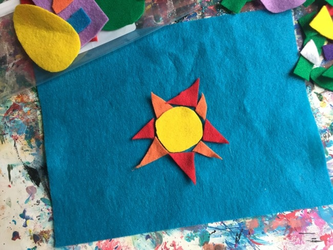 Sunshine craft from felt