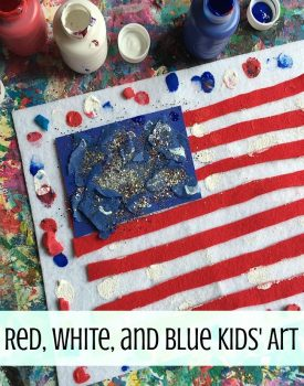 Red, White And Blue Flag Art Activity