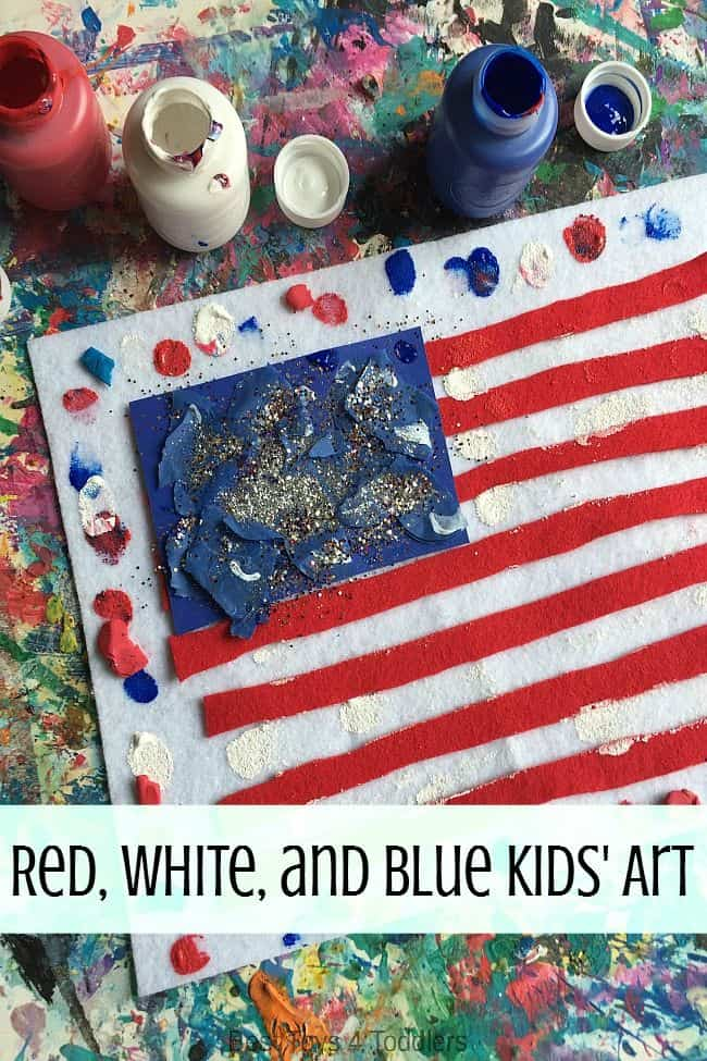 Best Toys 4 Toddlers - Red, white and blue flag art for kids