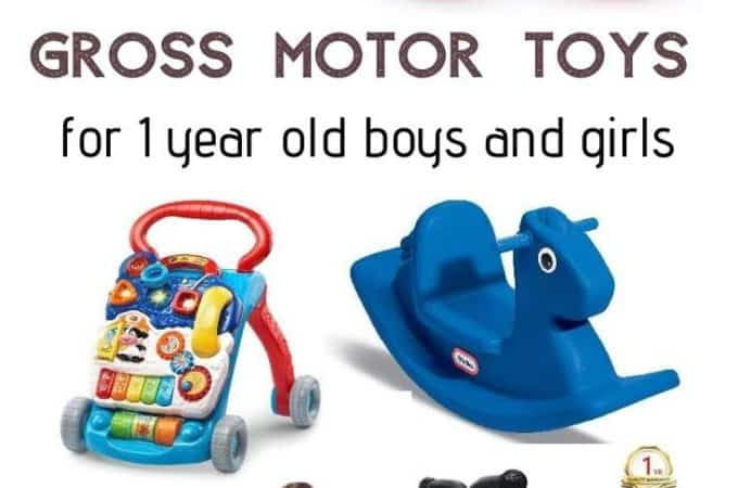 Top 10 Gross Motor Skills Toys For 1 Year Toddlers - both boys and girls will love a selection of active toys to use both indoor and outdoor