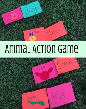 Gross Motor Animal Action Game