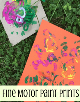 Fine Motor Activities: Pipe Cleaner Painting