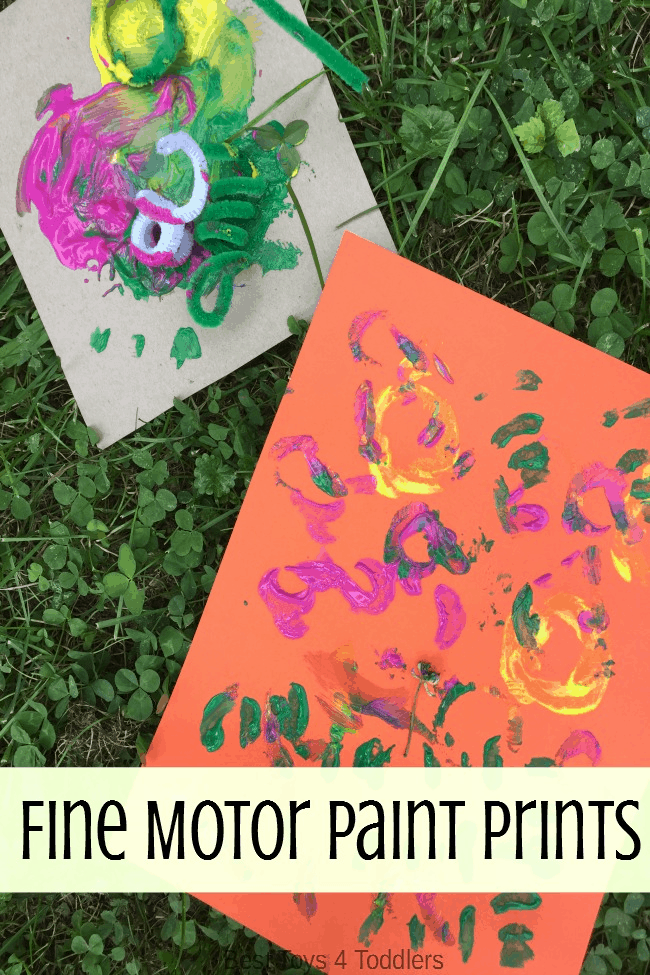 Fine Motor Paint Prints for Kids