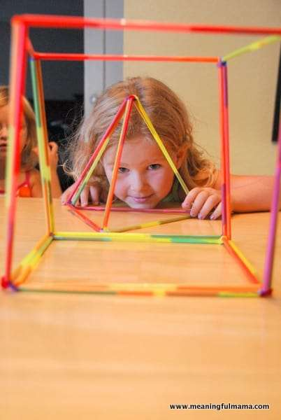 33 Out of the Box Activities with Drinking Straws - STEM activity - building 2D an 3D shapes