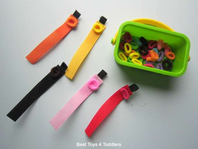 Colour sorting with velcro