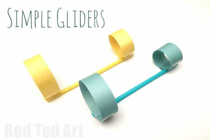 33 Out of the Box Activities with Drinking Straws - paper gliders