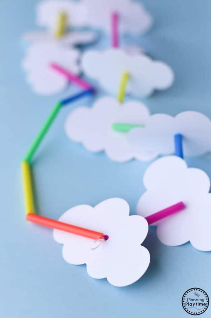 33 Out of the Box Activities with Drinking Straws - rainbow necklace craft