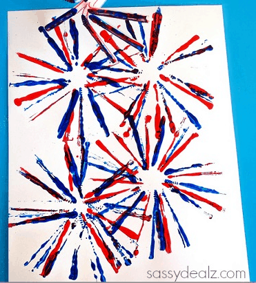 33 Out of the Box Activities with Drinking Straws - fireworks art