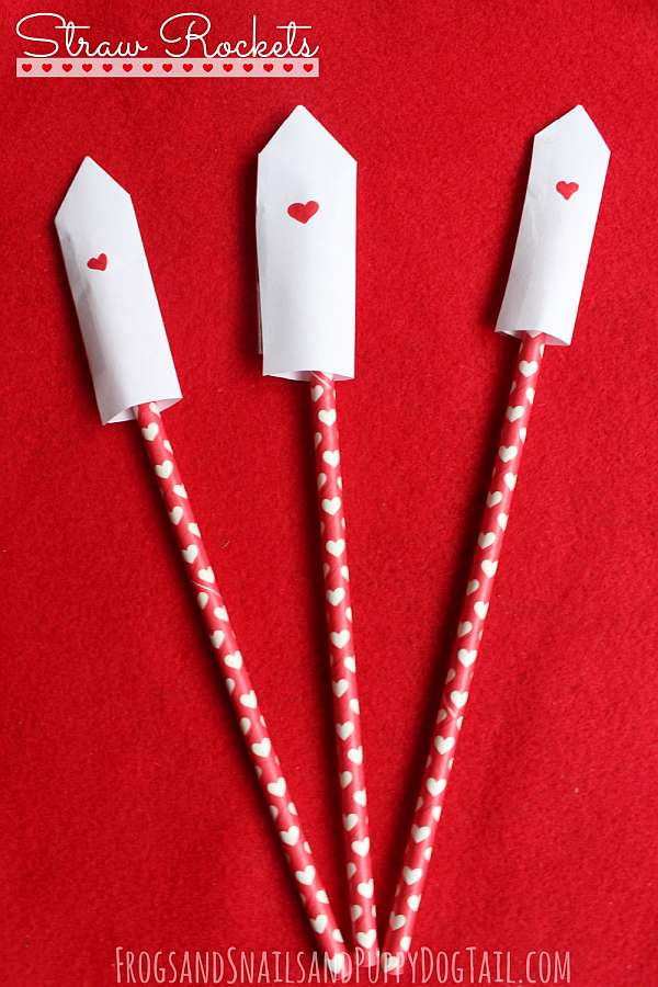 33 Out of the Box Activities with Drinking Straws - straw rockets to make and play