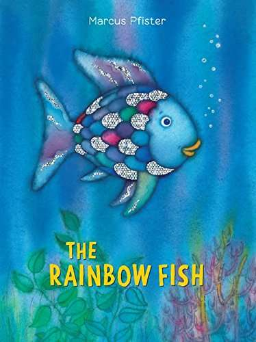 The Rainbow Fish Book to read under the umbrella