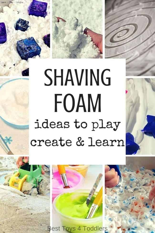Shaving foam activities for kids - ideas to play, create and learn with shaving cream, perfect for babies, toddlers, preschoolers and older kids