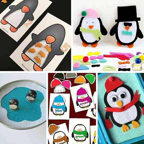 Penguin Busy Bags for learning and fun