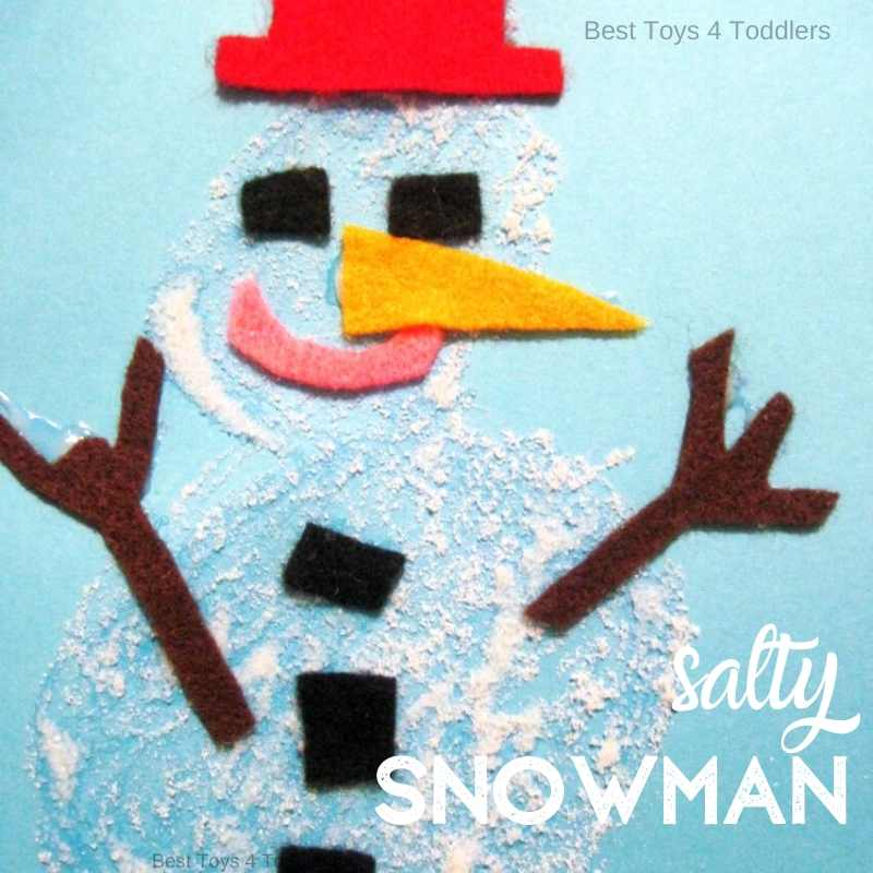 Salty snowman craft for toddlers and preschoolers