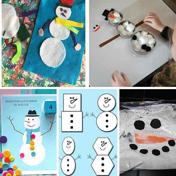 Winter busy bags for kids - easy snowman themed busy bags to prepare for your toddlers and preschoolers