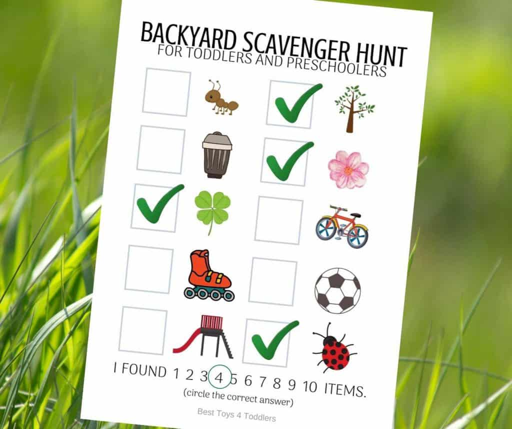 Free Printable Photo Backyard Scavenger Hunt for Toddlers ...