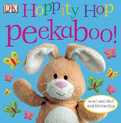 Hoppity Hop Peekaboo! Touch and feel Easter book for babies and toddlers