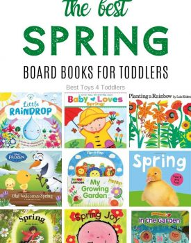 To help toddlers understand changes in the nature grab few of the best spring board books for toddlers and enjoy cosy reading time!
