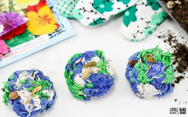 make seed bombs with your kids
